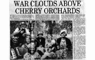 war clouds over cherry orchards