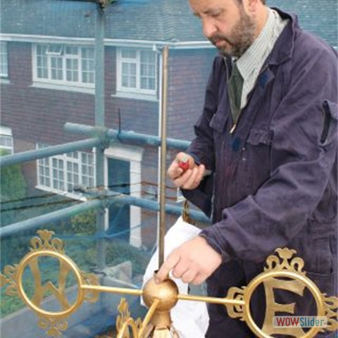 15 Re-assembling the repaired weather vane - 2