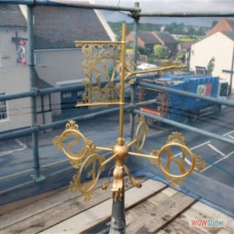 18 The re-assembled weather vane finished in gold leaf - 2